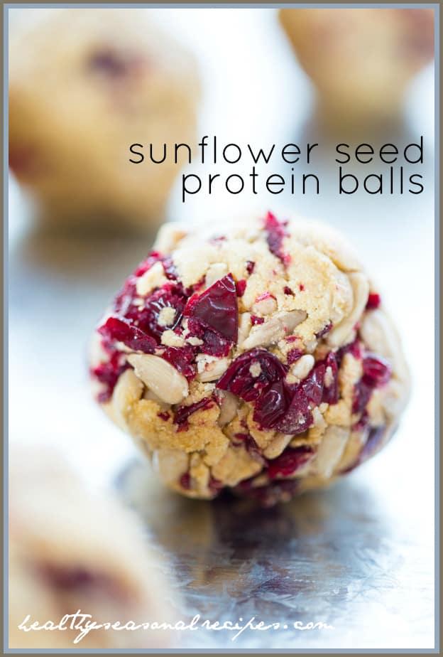 sunflower seed protein balls