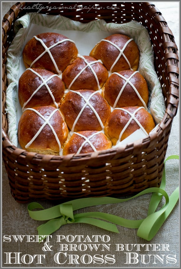 Sweet Potato and Brown Butter Hot Cross Buns
