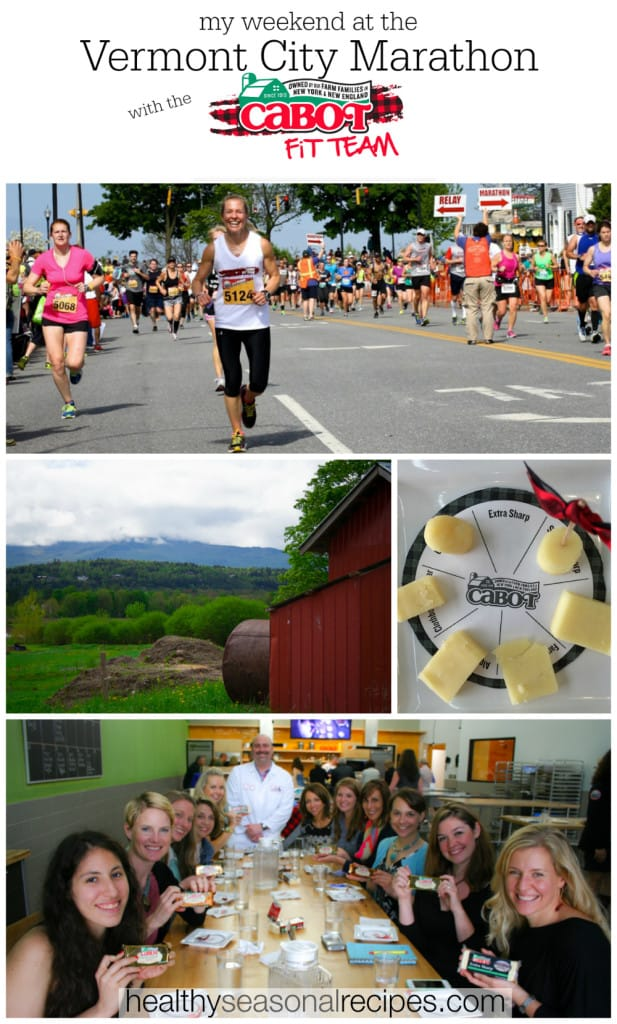 My weekend at Vermont City Marathon with the Cabot Fit Team on healthyseasonalrecipes.com
