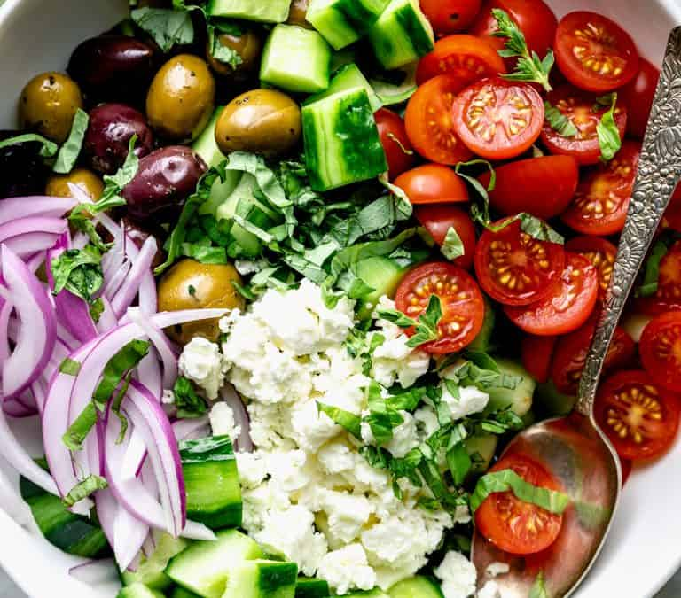 15 minute greek cucumber salad