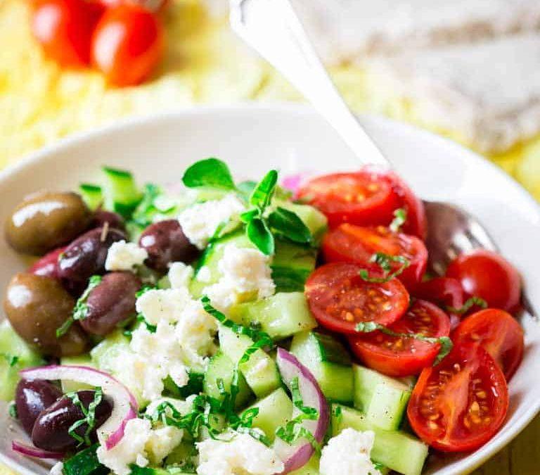 15 minute greek cucumber salad