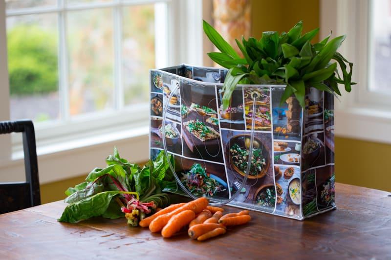 Custom designed bag by Flash Bags on healthyseasonalrecipes.com