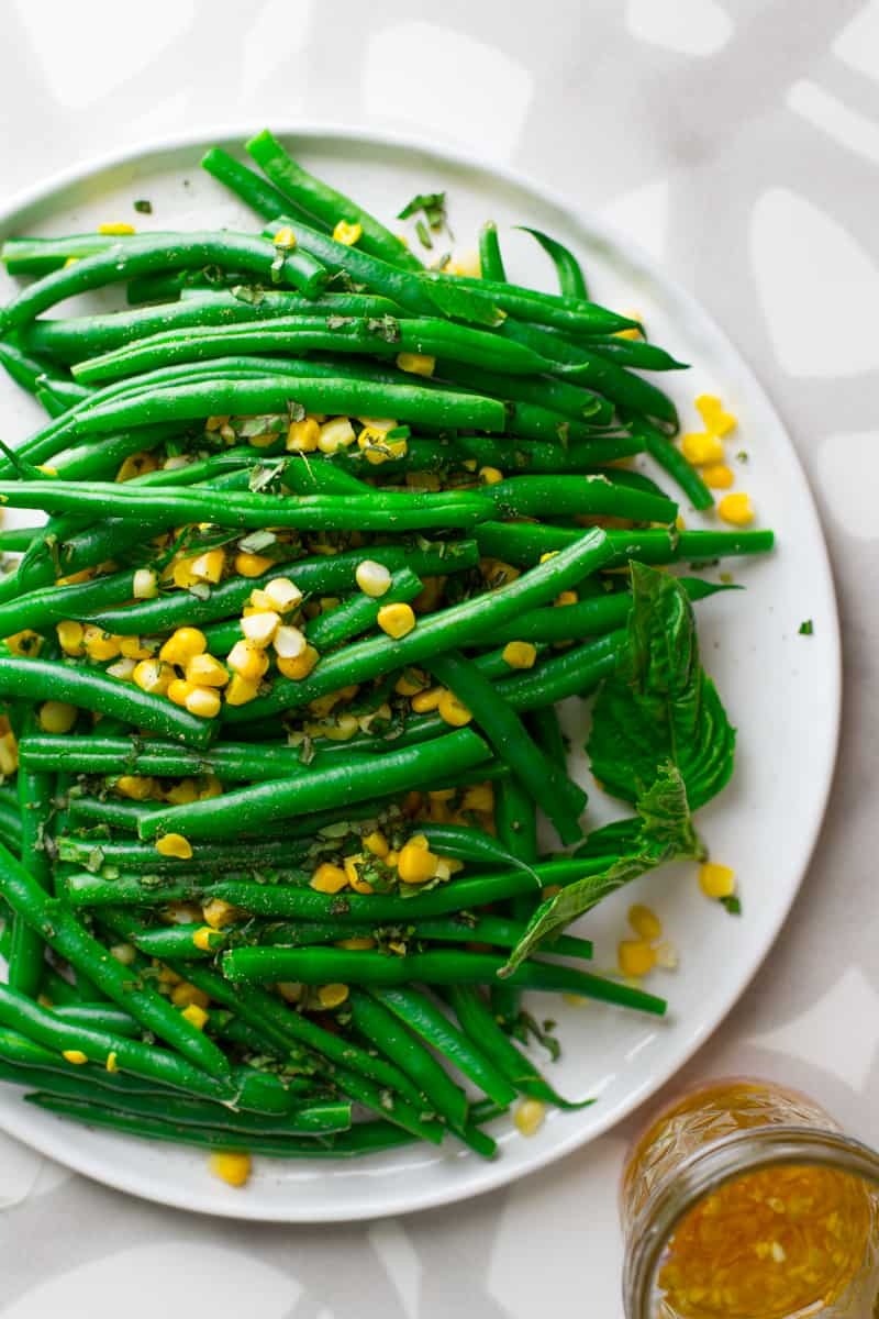 Green Bean and Corn Salad on Healthy Seasonal Recipes