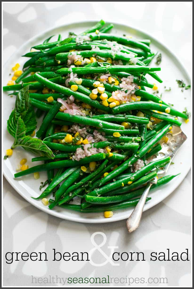 Green Bean and Corn Salad on healthyseasonalrecipes.com