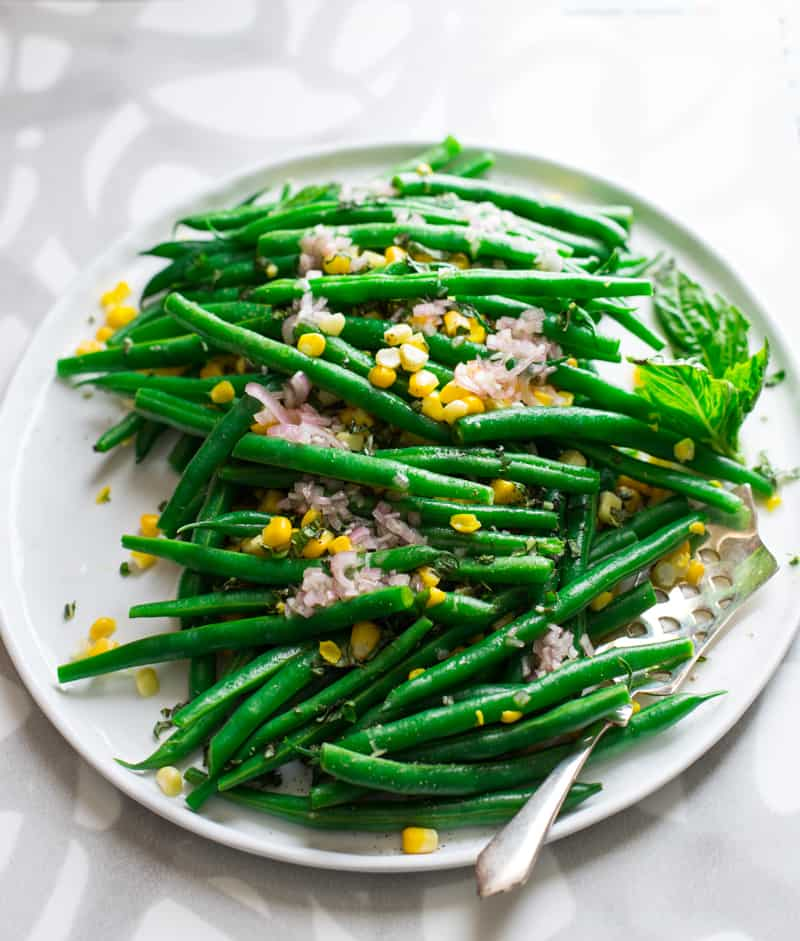 green beans and corn
