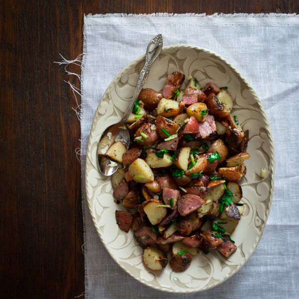 Grilled Potato Salad with Ramps on healthyseasonalrecipes.com