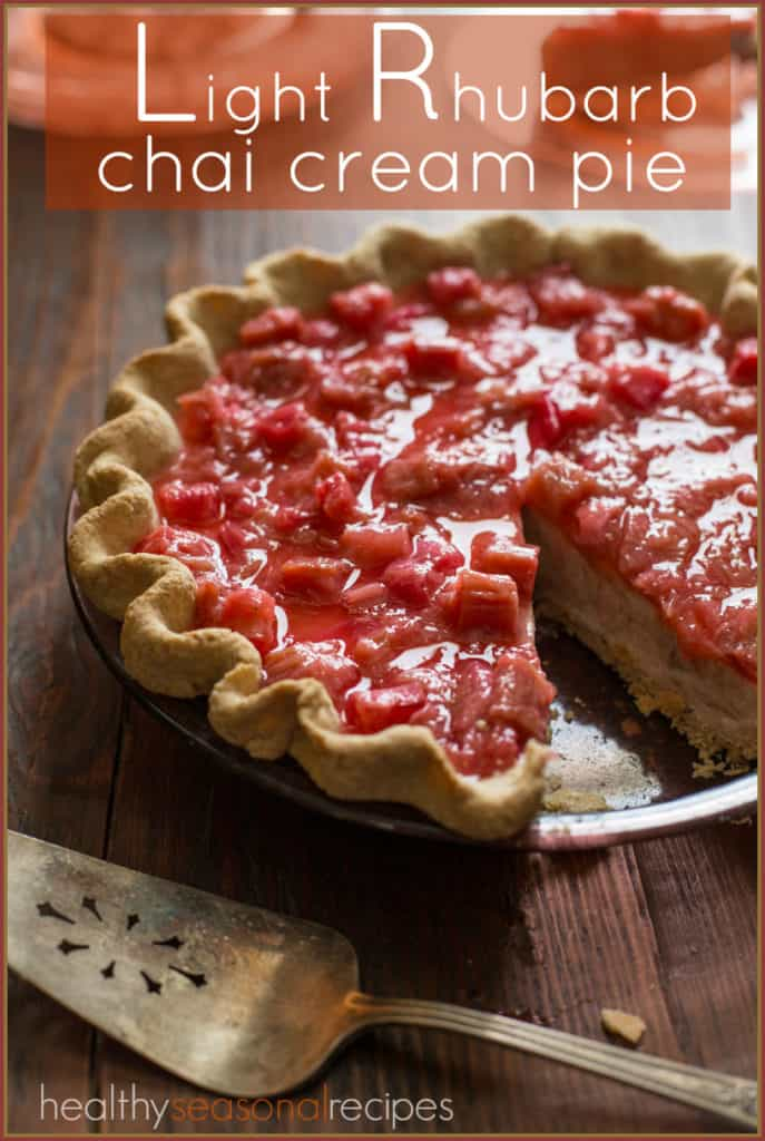 light rhubarb chai cream pie | healthyseasonalrecipes.com