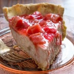 Light Rhubarb Chai Cream Pie on healthyseasonalrecipes.com