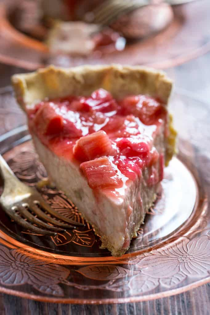 light rhubarb chai cream pie from healthyseasonalrecipes.com