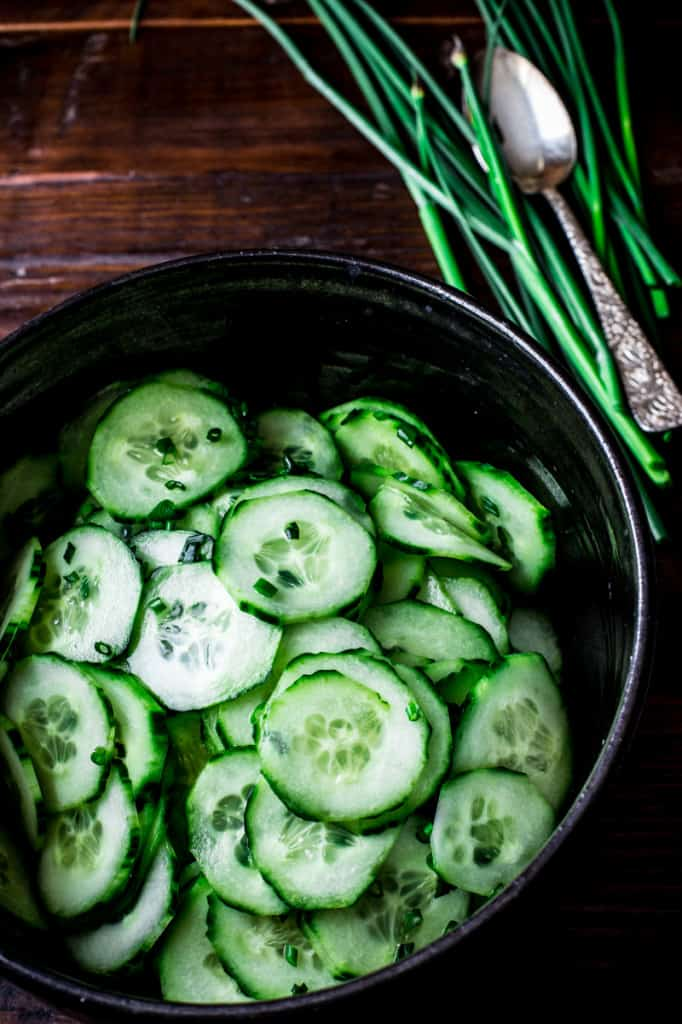 Simple Skinny Cucumber Salad