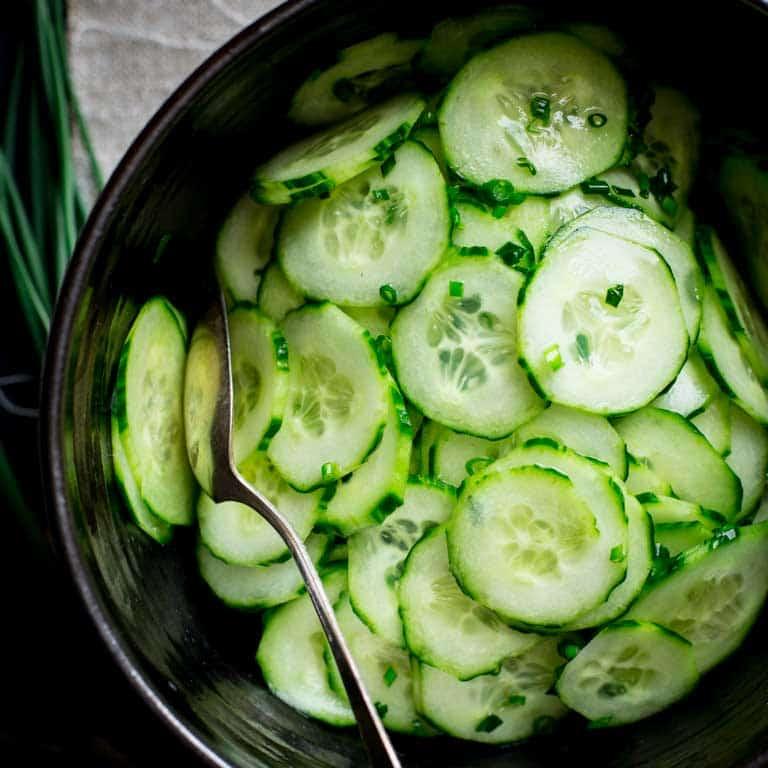 simple skinny cucumber salad