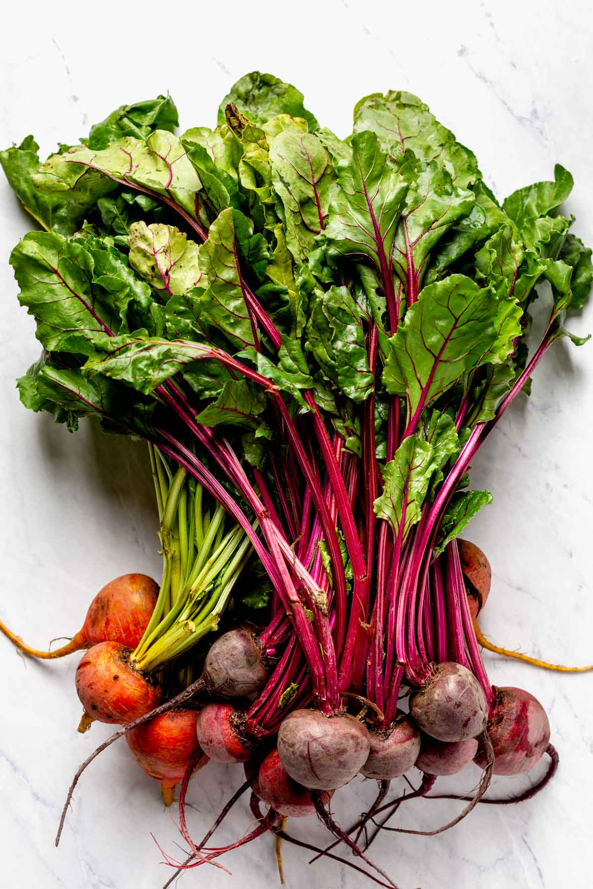 beets with greens attached