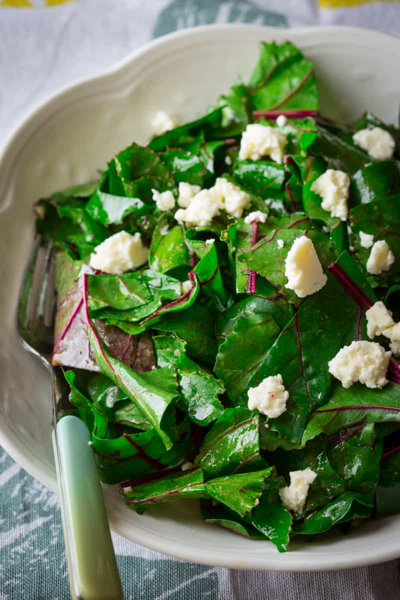 what to do with beet greens and a recipe for beet green salad with ...
