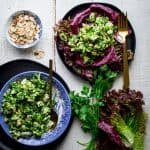 This mayo-free Chimichurri Chicken Salad will be the back to school lunch of your dreams and it just happens to be #Whole30 friendly, #gluten-free and ready in under 30 minutes!   Healthy Seasonal Recipes   Katie Webster #lowcarb #highprotein #lunch #chicken #healthy #grainfree #dairyfree #nomayo