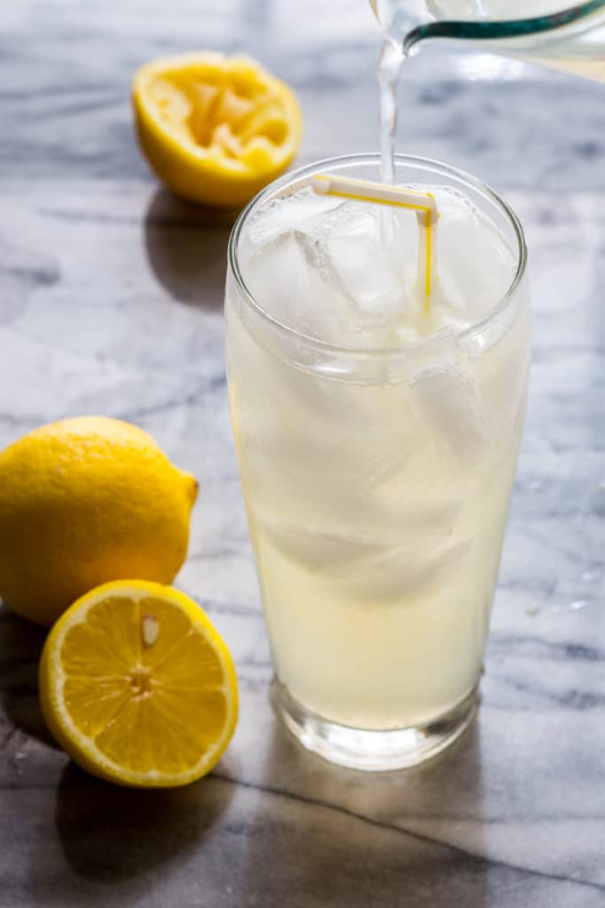 homemade ginger lemonade