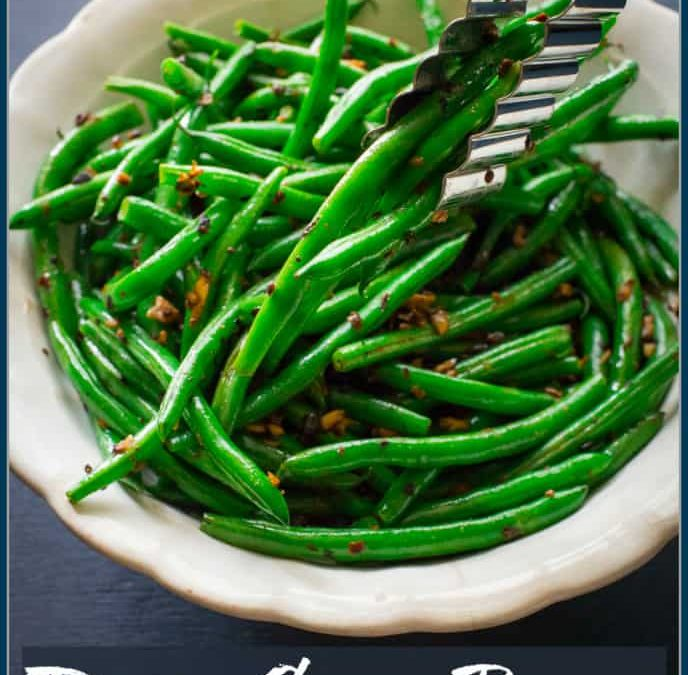 green beans with fermented black beans ~ aka dirty green beans