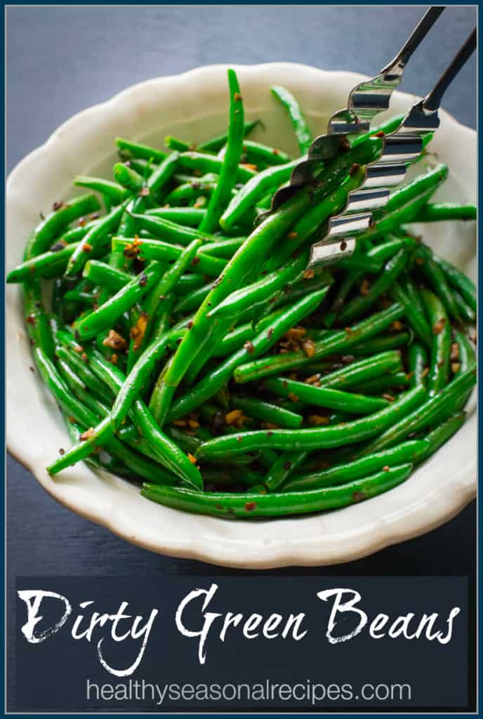 dirty green beans with fermented black beans vegan and gluten free on healthyseasonalrecipes.com