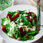 spinach salad with maple ranch bacon and beets-020