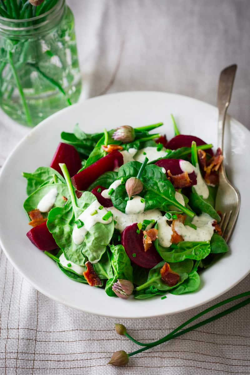 Spinach Salad with Maple Ranch