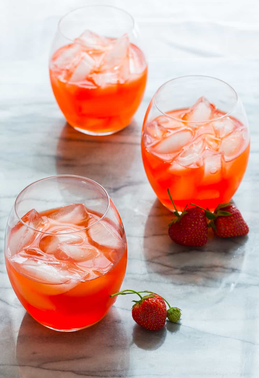 strawberry ginger pink lemonade cocktail