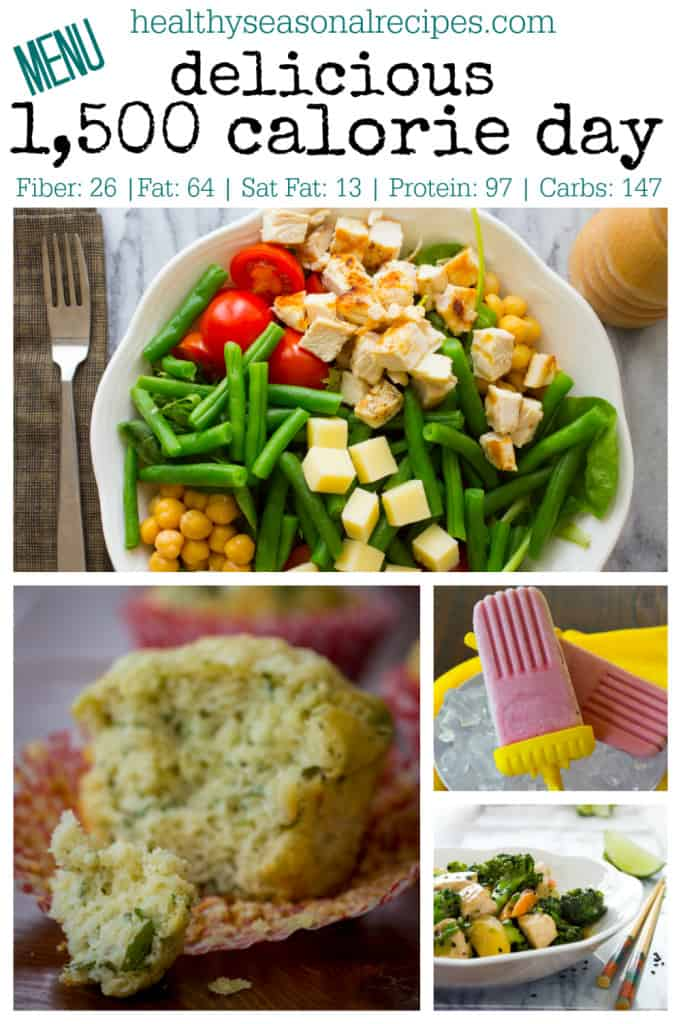delicious 1500 calorie day menu on healthyseasonalrecipes.com