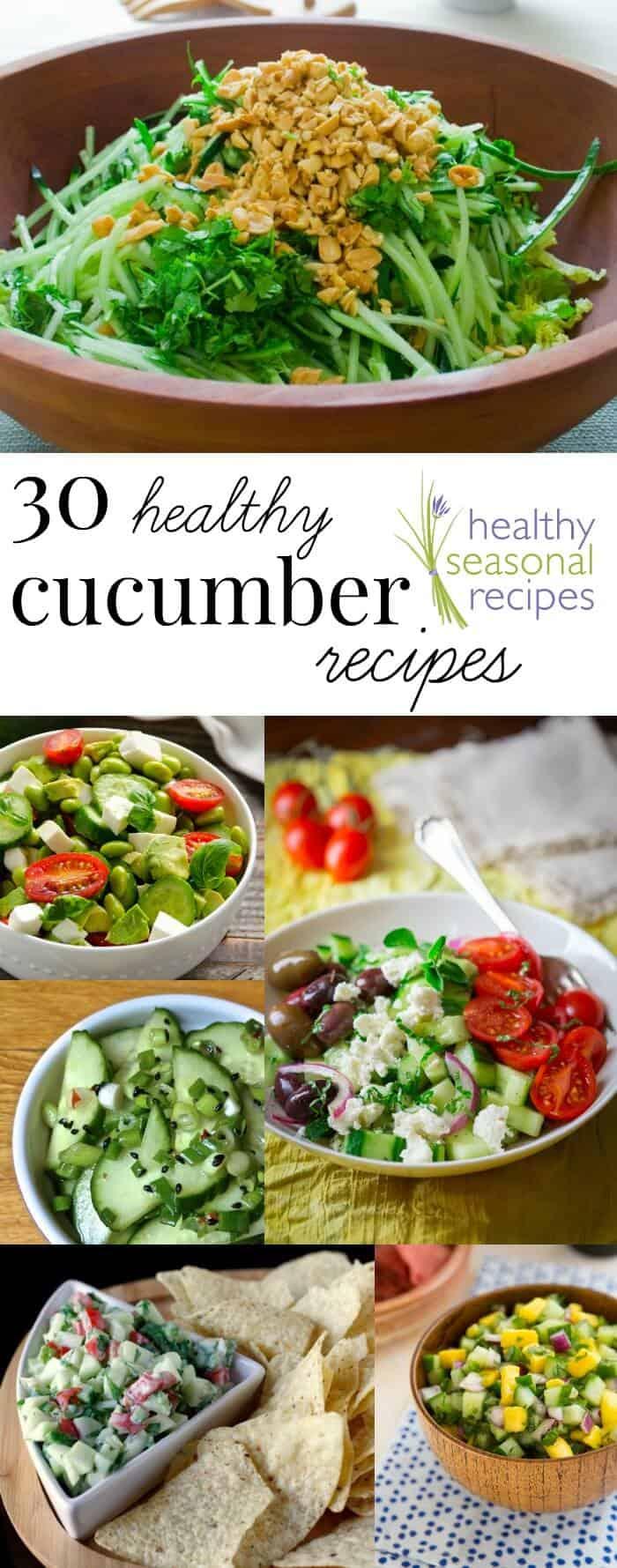 30 healthy cucumber recipes