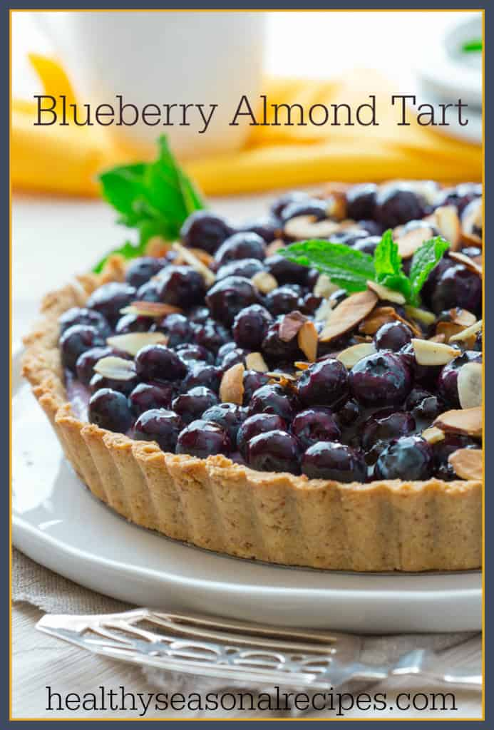 Blueberry Almond Tart on healthyseasonalrecipes.com