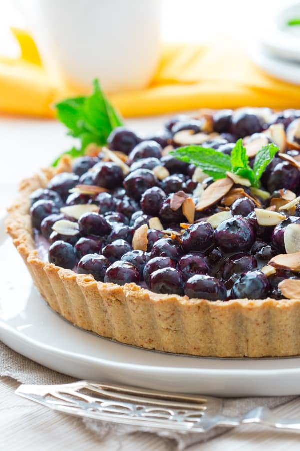 blueberry almond tart