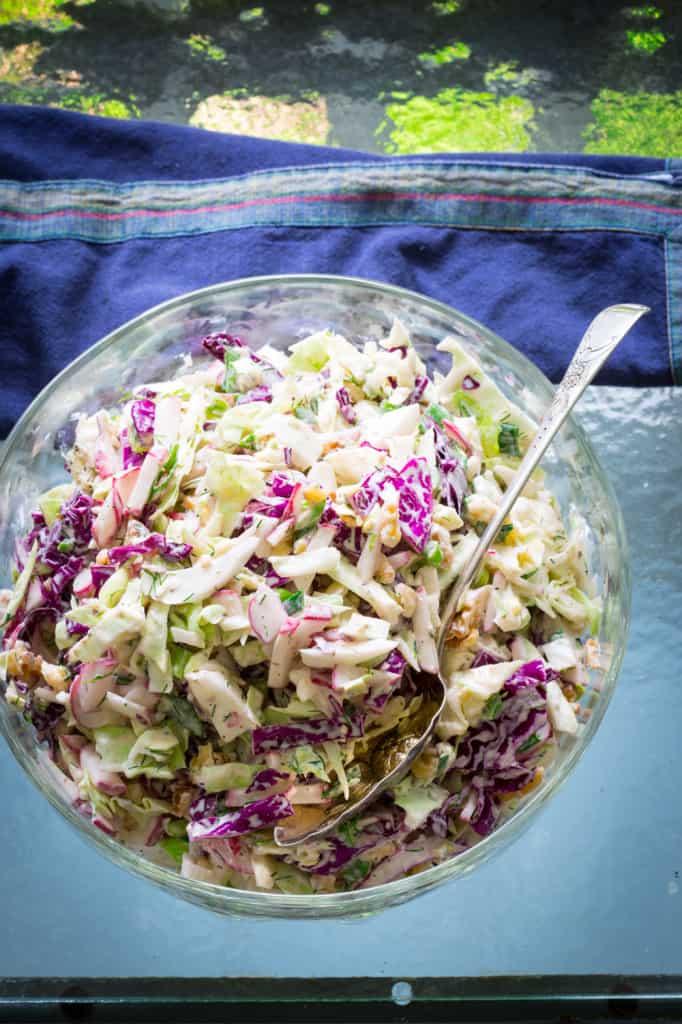 Creamy Blue Cheese and Walnut Coleslaw on healthyseasonalrecipes.com # ...