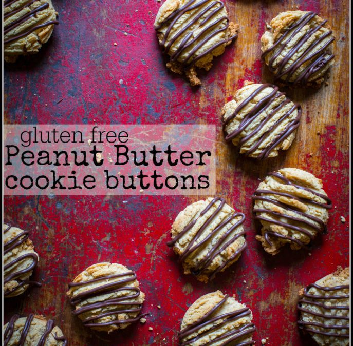 gluten free peanut butter cookie buttons