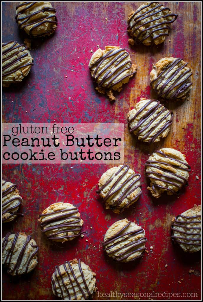 gluten free peanut butter cookie buttons from healthyseasonalrecipes.com