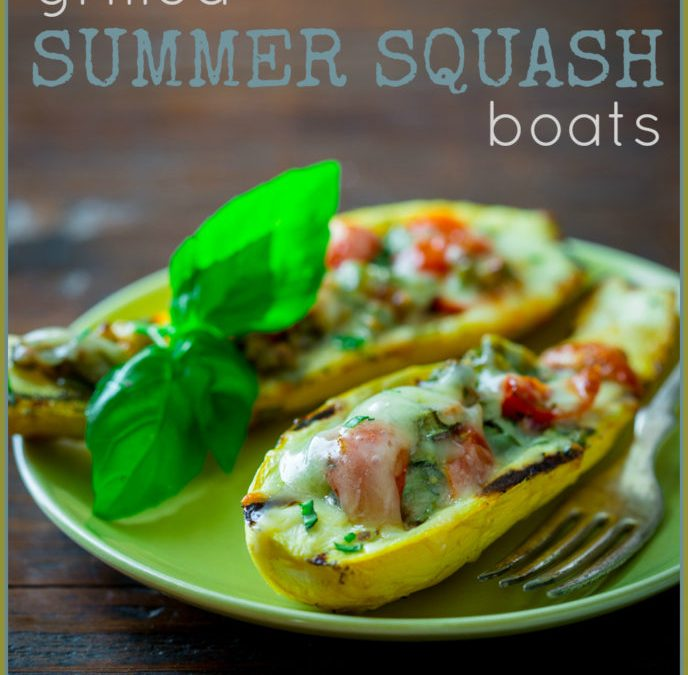 grilled summer squash boats