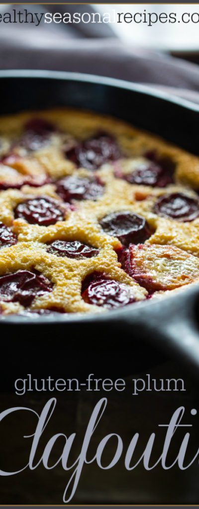 gluten free plum clafoutis