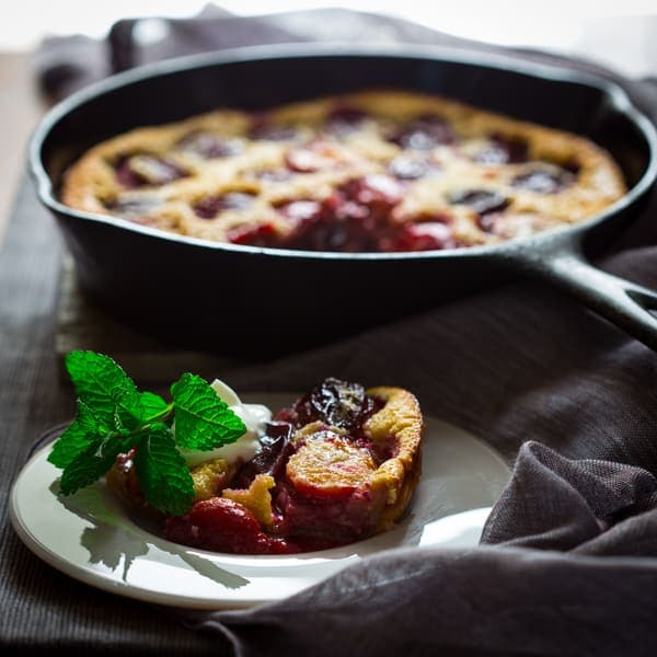 gluten free plum clafoutis - Healthy Seasonal Recipes