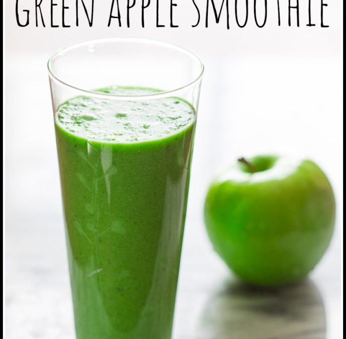 green apple smoothie {vegan, paleo and gluten-free}