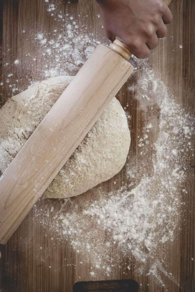 Easy Multi-Grain Pizza Dough Recipe on healthyseasonalrecipes.com