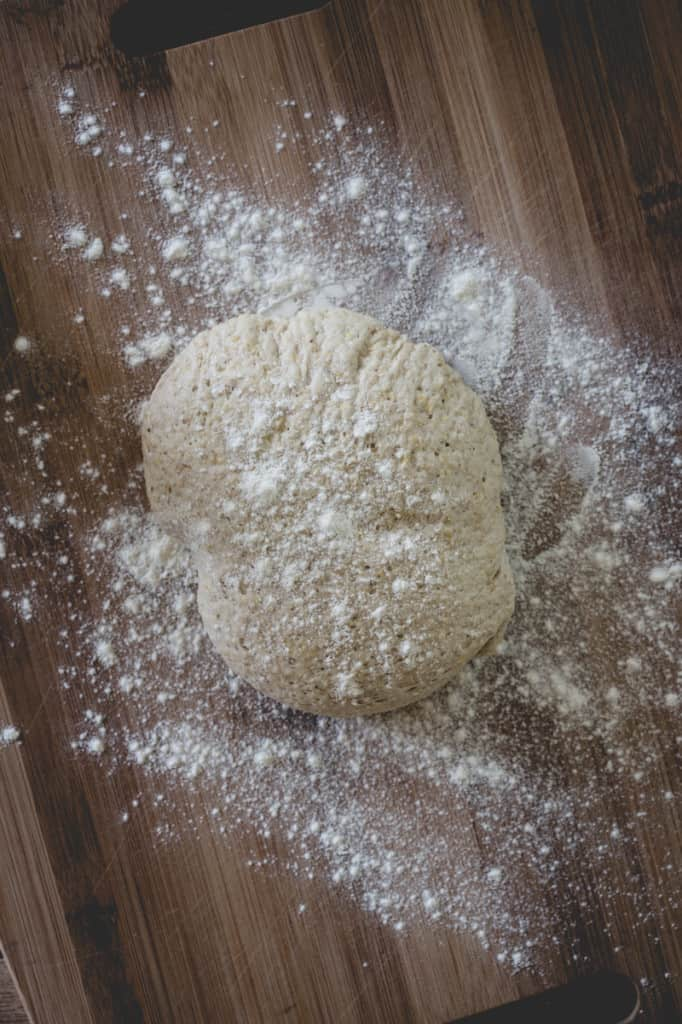 Easy Multi-grain Pizza Dough on healthyseasonalrecipes.com