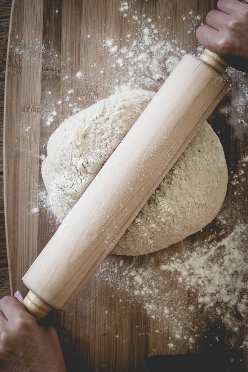 multi-grain pizza dough