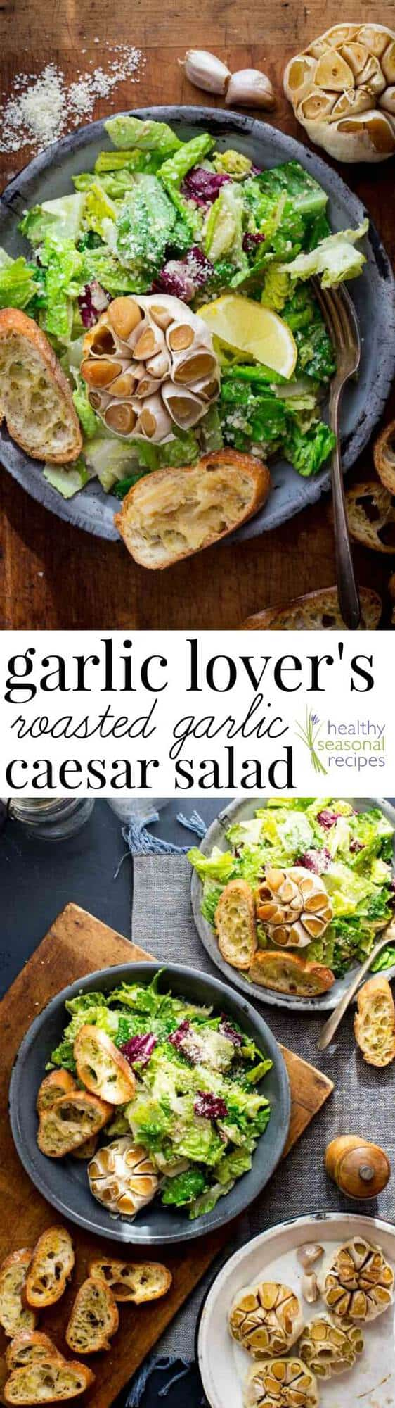 Caesar salad collage with text overlay