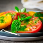 5 ingredient tomatoes with Thai Basil Dressing only 10 minutes #glutenfree