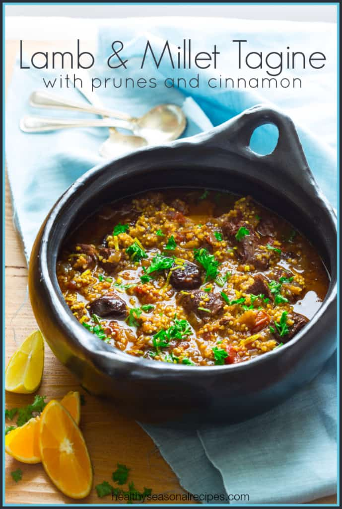 lamb and millet tagine with cinnamon and prunes {gluten-free}