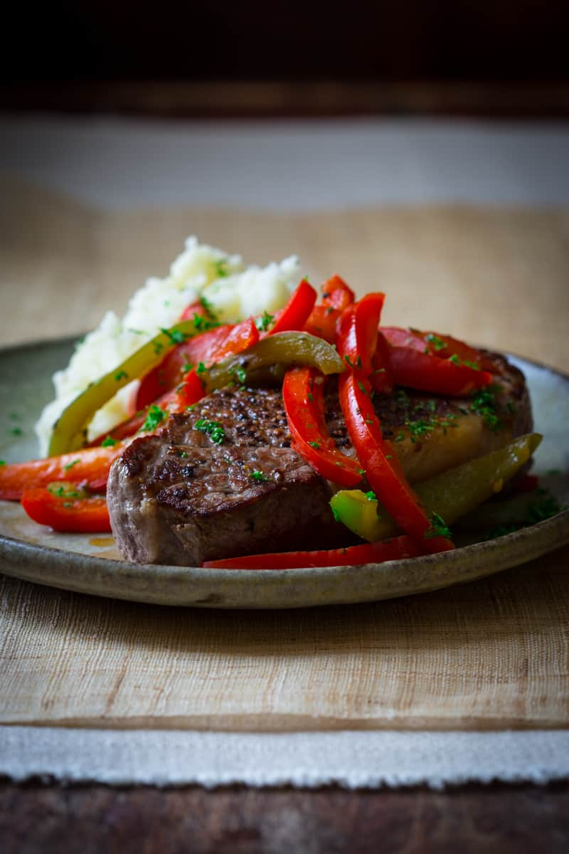 skillet pepper steaks