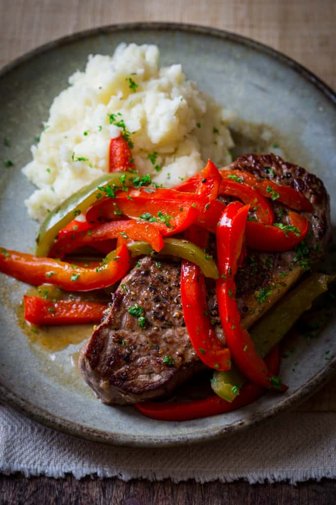 Skillet Pepper Steaks on healthyseasonalrecipes.com #paleo