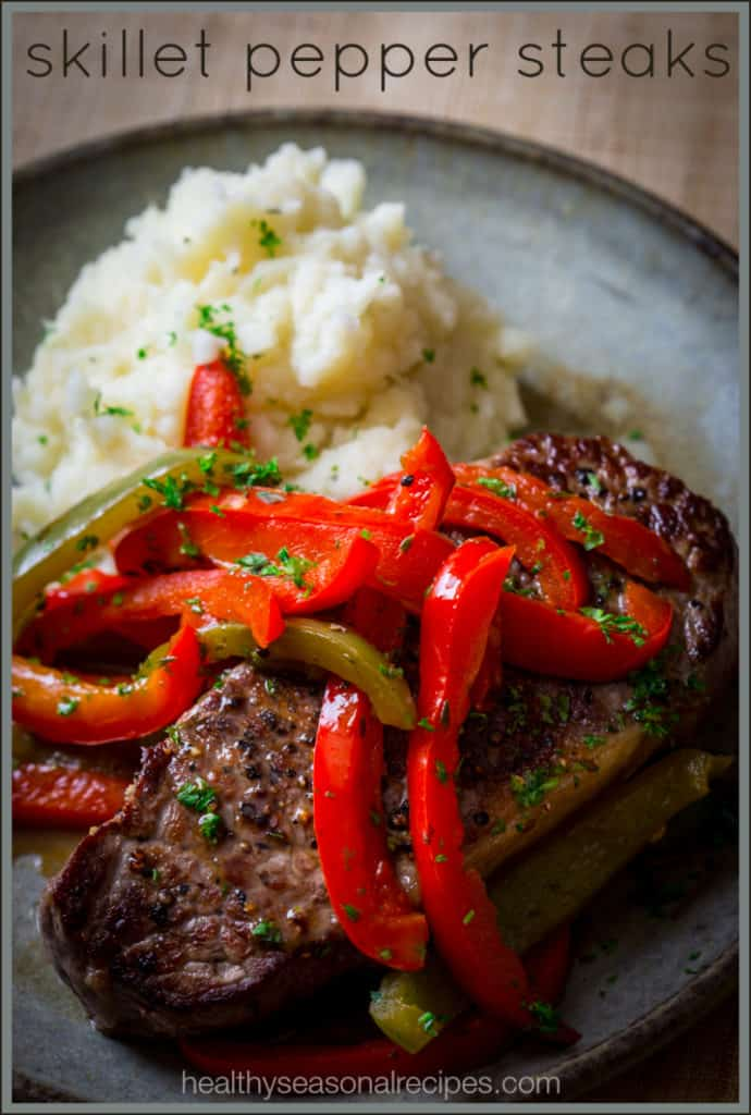 Paleo Skillet Pepper Steaks | healthyseasonalrecipes.com