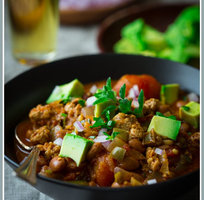 turkey chili with pintos ~ from the archives