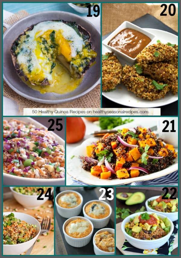 50 Healthy Quinoa Recipes on healthyseasonalrecipes.com