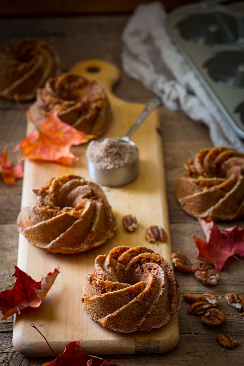 gluten-free sweet potato praline bundtlettes