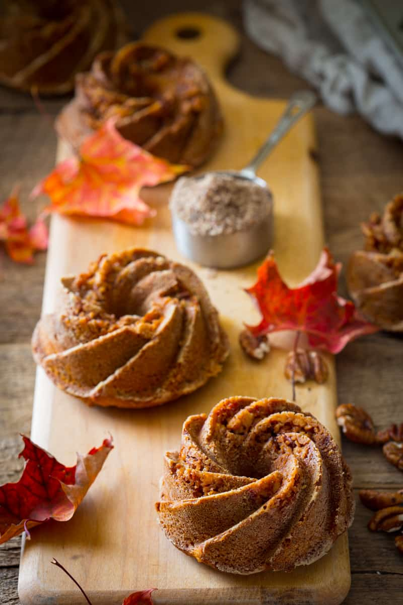Gluten-free Sweet Potato Praline Bundtlettes on healthyseasonal.com