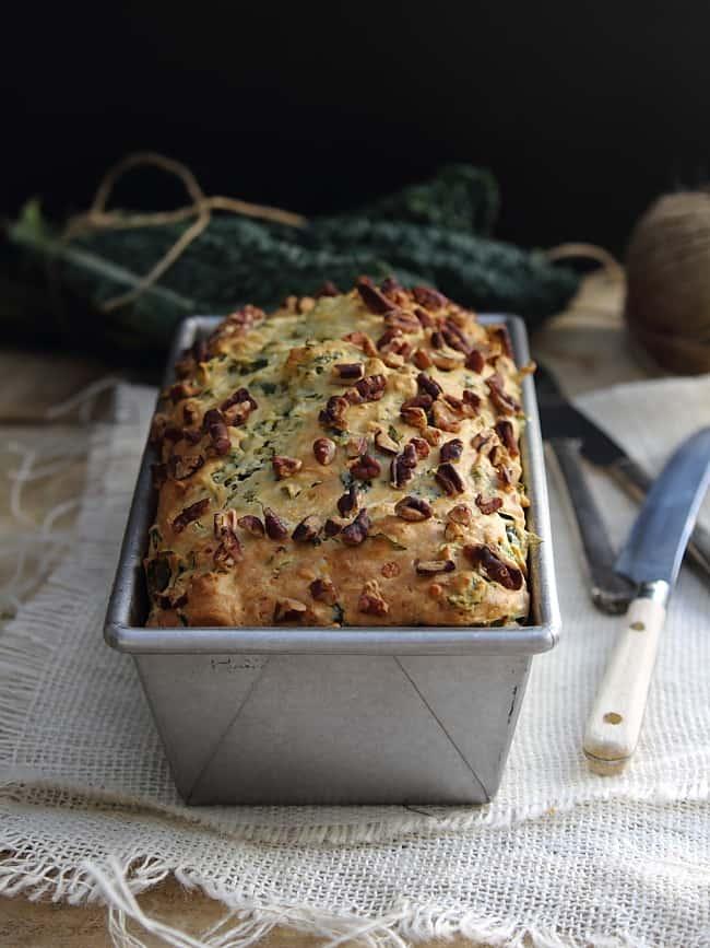 Kale and feta bread on healthyseasonalrecipes.com