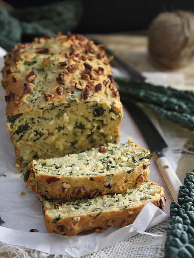 Kale and feta bread on healthyseasonalrecipes.com